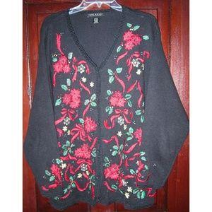Lane Bryant Plus 22W 24W Cardigan Sweater Holiday